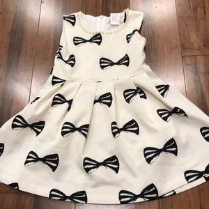 Other - Black and white bow tie Dress with gems and pearls